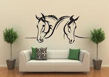 Wandtattoo Zwei Pferde Pferdeköpfe Pferd verschiedene Größen