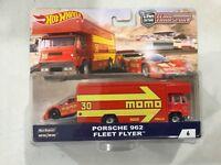 Hot Wheels 50th Ann Car Culture Team Transport Porsche 962! FREE shipping!