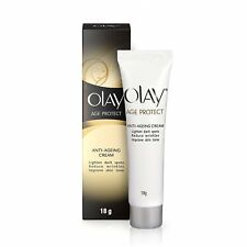 2 PACK OF Olay Age Protect Anti-Ageing Cream Wrinkle Free Skin, 18g Free Ship