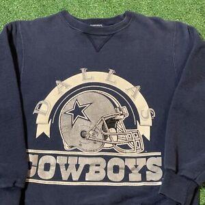 Dallas Cowboys Sweatshirt Men Small Adult Blue Vintage 90s Champion NFL Pullover