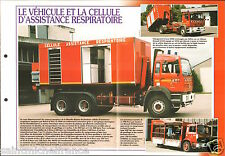 Fire engine Vehicule Cellule Assistance Respiratoire FICHE Pompier FIREFIGHTER
