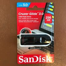 NEW SanDisk 256 GB CRUZER GLIDE USB 3.0 Flash Drive High Speed Memory Stick
