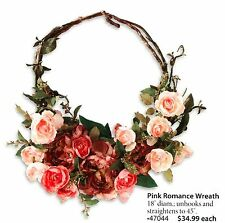 Home Interiors Floral Pink Romance Wreath Ea. LAST ONES! NEW HOMCO HIG 47044
