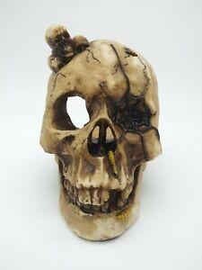 Large Size Resin Skull Halloween Candle Holder