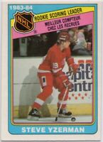 1984-85 OPC #385 Steve Yzerman EX-EX+ Wrinkle RC Detroit Red Wings FREE SHIPPING