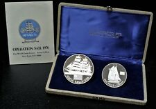 OPERATION SAIL 1976 Matched Set of 2 STERLING SILVER MEDALS - C-78 - (3 Troy Oz)
