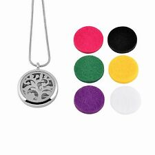 Stainless Steel Pendant Tree of Life Round Essential Oils Diffuser Scent Aroma