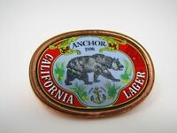 Vintage Collectible Pin: ANCHOR Beer California Lager Bear Design