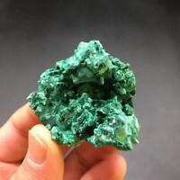 Green Malachite Synthetic Crystal Cluster Raw Gemstone Specimens Decorate 72g