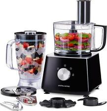 Andrew James Black 700w Food Processor Blender Mixer Chopper Slicer Shredder
