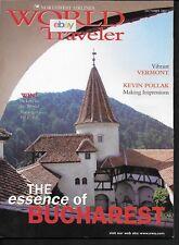 NORTHWEST AIRLINES WORLD TRAVELER MAGAZINE 10/2001 BUCHAREST ROMANIA-VERMONT