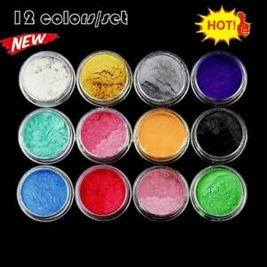 1Set 12 Color Mica Pigment Powder Perfect for Soap Cosmetics Resin Colorant Dye.