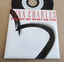 """DISQUE 45T DE TINA CHARLES  """" YOU SET MY HEART ON FIRE """""""