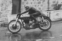 Norton 500 works & Geoff Duke – 1951 winner Ulster GP & world champion -photo