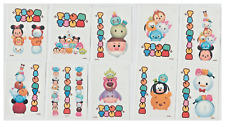"""10 Large Tsum Tsum Vending Tattoos ( On 2.5"""" x 3.5"""" Cards ) Complete Set"""