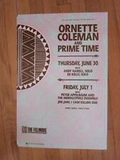 Ornette Coleman 1988 Fillmore concert poster