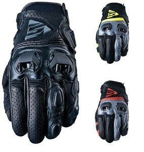 Five SF2 Kurze Stulpe Perforiert Leder Motorrad SPORTS / Roadster Handschuhe