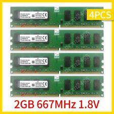 8GB 4x 2GB DDR2 PC2-5300 667MHz 1.8V KVR667D2N5/2G Desktop RAM For Kingston 777
