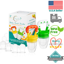 Baby Fruit Feeder Pacifier (2 Pack) | Infant Silicone Teething Toy | 3-12 Months