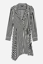 Ex Topshop Stripe Mini Shirt Dress TALL Size 4 - 16 RRP £42
