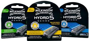 Wilkinson Sword Hydro 5 Sense Energize, Hydratant, Sensitive Razor Blades Men's