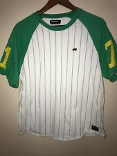 Trukfit Green Yellow White Baseball Jersey Shirt, Mens Size XL Lil Wayne Trippy