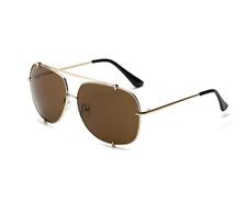 New Jennifer Lopez Sunglasses JLo Pilot Brown Women Gradient Aviator Glasses
