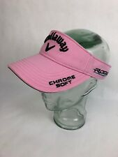 Rare Callaway Odyssey Golf Rogue Chrome Soft Visor Pink - Adjustable Fstshp