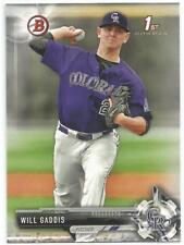 Will Gaddis Colorado Rockies 2017 1st Bowman Draft Baseball