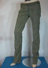 Pantaloni da donna in cotone verde