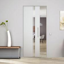 """Glass Single sliding Pocket Door System full set design  """" 2 Strips """" 94 cm"""