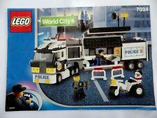 Notice LEGO world CITY Manuels d'instructions montage Ref : 7034