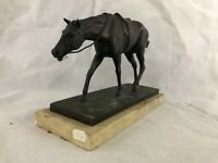Old bronze sculpture  by Pavel Petrovitch TRUBETSKOY 1930s. HORSE