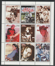 Abkhazia 5695 - 1999 ELVIS PRESLEY perf sheetlet of 9 values unmounted mint
