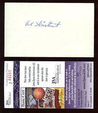 Al Wistert Philadelphia Eagles Autographed 3x5 Football Index Card JSA