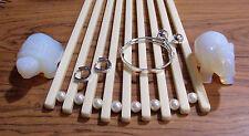 1-925 Sterling Silver Bangle Adjustable Baby/Toddlers Bracelet & Earring Set-TD