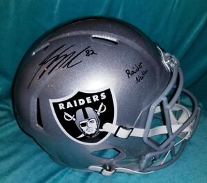 Jordy Nelson Raiders signed full-size Rep. Speed helmet with JSA.