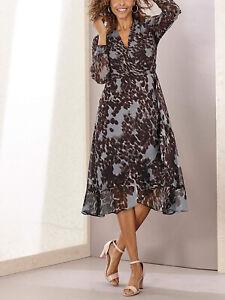 Joanna Hope Grey Printed Hi-Low Dress in Sizes 22 or 32 RRP £45