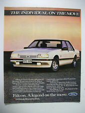 FORD 1987 FALCON XF S PACK MAGAZINE FULLPAGE COLOUR ADVERTISEMENT