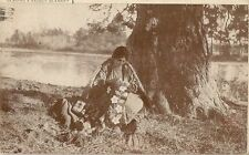 CARTE POSTALE CANADA INDIENNE COUTURE BEADING A SADDLE BLANKET