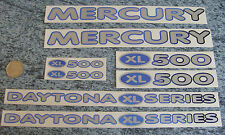 MERCURY DAYTONA XL500 set di decalcomanie Mtb-Blu N Argento-autoadesivo-CONSEGNA GRATUITA