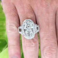 Vintage Design GIA Certified 5.50 CTW Oval, Round Brilliant and Trapezoid Dia...
