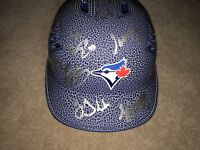 2018 TORONTO BLUE JAYS BLUEJAYS TEAM SIGNED LOGO BASEBALL BATTING HELMET COA