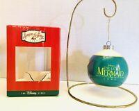 Vtg 1997 Disney Store Season Of Song Little Mermaid Glass Ball Ornament RARE
