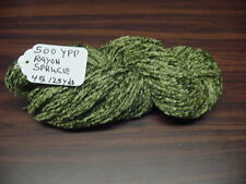 Rayon Chenille Yarn 500 Ypp 1 Skein, 4 oz.125 Yards Color.Spruce