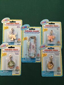 Webkinz Collectible Bracelet + 4 Charms ~ Pig, Terrier, Plumpy, and Ms. Birdy