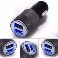 Mini Dual USB 2 Port 12V Universal In Car Lighter Socket Charger Adapter Plug