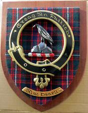 "NOS Scottish Clan MacDONELL Tartan Plaque Crest Shield LARGE 12"""