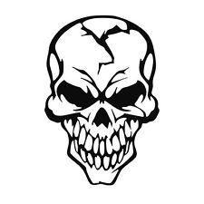 Skull vinyl decal sticker for Car/Truck Window tablet dead zombie gothic angry