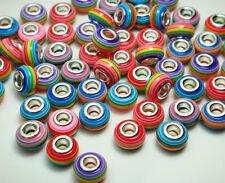 50pcs mix murano DIY Jewelry charm bead LAMPWORK fit European Bracelet beads u7